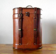 Vintage Leather Wine Bottle Carrier by RagNBoneVintage on Etsy