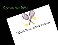Personalized Tennis Notepads  50 sheets by wackykracker on Etsy