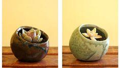 small handmade pinch pots