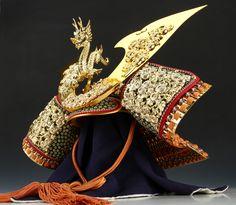 Samurai Helmet -A Replica of National Treasure Style- Beautiful Kabuto 龍玉