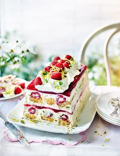 Raspberry and Pimm's trifle terrine - A stunning dessert that's a great centre piece for your party