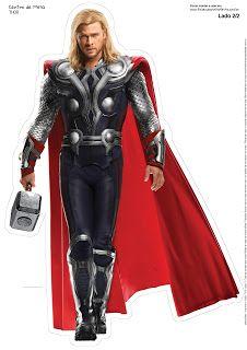 Avengers: Free Printable Centerpiece.