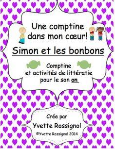 """Une comptine originale de la collection """"Une comptine dans mon coeur"""" de Yvette Rossignol- partir de cette comptine, vous aurez de belles opportunits pour  offrir  vos lves des activits qui permettont de rencontrer plusieurs rsultats d'apprentissage, surtout en litttratie.**Pour classes d'immersion, classes francophones, franais de   base ou franais intgr-Des mots frquents avec le son """"on"""" sont souvent rpts  travers les activits afin de btir le vocabulaire de lecture et afin de donner des ..."""