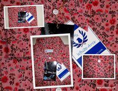 Stripe floral printed cotton shirt