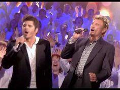 Johnny Hallyday & Patrick Fiori Vivre pour le meilleur 500 Choristes 07 ... Johnny Halliday, French Songs, Move Your Body, Jazz Blues, Blues Rock, Clip, Karaoke, Musicals, Tours