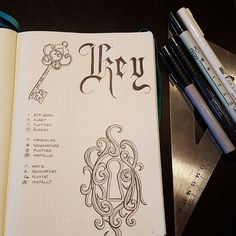 bujobypetra Breaking in my new bujo tonight. Starting with the key page, only because I was most inspired to do that. This will be my new planner for work. I work as a teacher so my planner will begin with august and run the first semester. Finally I will have a teachers planner with everything I would like it to have. #bujo #bulletjournal #planner #planning
