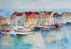 Buy Weymouth - England, Watercolor by Faruk Köksal on Artfinder. Discover thousands of other original paintings, prints, sculptures and photography from independent artists.