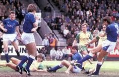 Norwich v #EFC flashback, 1987: Having missed the chance to win the title at Goodison following a goalless draw with Man City, the Blues travelled to Carrow Road on Easter Monday knowing a win would seal a second championship in three years and Pat van den Hauwe's first minute strike proved enough to spark the celebrations for Howard Kendall's men. Watch it here http://www.youtube.com/watch?v=YUQanC59OFo and follow today's game here http://www.liverpoolecho.co.uk/everton-fc/match-centre/