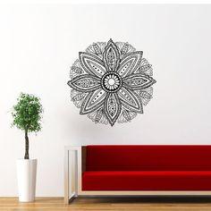 Mandala Wall Decal Flower Mandala Lotus Yoga by SuperVinylDecal, $24.99