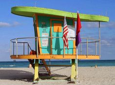 former art deco lifeguard stand designed by kenny scharf - 14th street