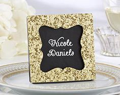 Gold Glitter Frame - Place Card Holder by Kate Aspen