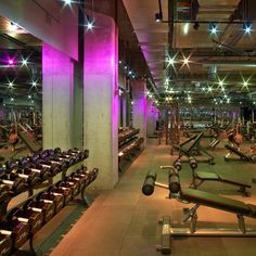Disco Gym. Oh yeah my kind of environment :)