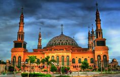 8 Most Beautifully Designed Mosques in Indonesia Islamic Status, Islamic Center, Beautiful Mosques, Grand Mosque, Islamic Architecture, Archipelago, Southeast Asia, Taj Mahal, Places To Visit
