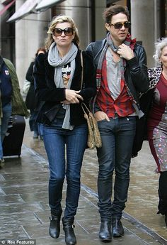 Two of a kind: Kate Moss and jamie hince wear matching outfits as they walk along Regent Street in London this morning