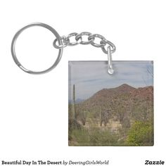 Beautiful Day In The Desert Keychain