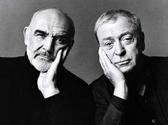 Sean Connery & Michael Caine - 2 Acting Legends by: Annie Leibovitz Sean Connery, Thing 1, Annie Leibovitz, Mario Testino, Interesting Faces, Famous Faces, Vanity Fair, Old Hollywood, Hollywood Stars