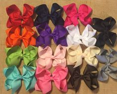 """Basic Hair Bow, Boutique Hair Bows, Solid Color Hair Bow, Simple Hair Bows, Boutique Hair Bow, 5"""" Hairbow, Solid Color Bow, Boutique Hairbow by BBgiftsandmore on Etsy"""
