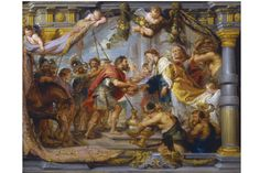 'The Meeting of Abraham and Melchizedek' (c. 1626) by Peter Paul Rubens, an oil modello...