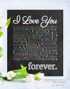 I Love You - Forever -- Perfect for birthdays, anniversaries, or special occasions, with this wall art, you can add your own words to make a truly special gift. Birthday Present Dad, Diy Birthday Gifts For Him, Diy Gifts For Mom, Easy Diy Gifts, Birthday Gifts For Boyfriend, Homemade Gifts, Creative Mother's Day Gifts, Dad Birthday, Diy Painted Vases