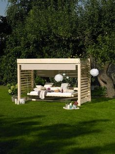 Mit Einem Alten Trampolin Ein Hängebett Für Den Garten Bauen. Noch ... Gemutliche Gartengestaltung Ideen Outdoor Bereich