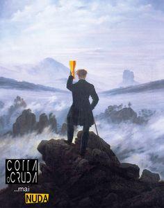 Viandante sul mare di nebbia... con bicchiere di birra! Caspar David Friedrich, per Cotta o Cruda... Mai Nuda! Continuate a seguirci per vedere quali altre opere d'arte bevono birra artigianale! #birra #beer #art #arte #artist #cottaocruda #event #eventi #foligno #facebook