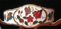 Lovely Cloisonne Butterfly & Flowers Clamper by OodlesOfBling, $15.00