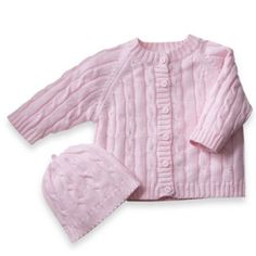 Cable Knit Baby Sweater by elegantbaby® - Newborn to 6 Months - buybuyBaby.com