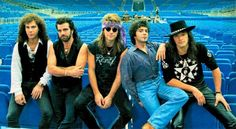 Bon Jovi. No way to list everything. So Livin On a Prayer, You Give Love a Bad Name.