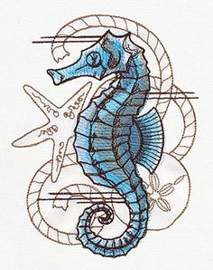 Nauticus - Seahorse | Urban Threads: Unique and Awesome Embroidery Designs