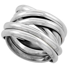 Sterling Silver Wrap Ring 1/2 inch wide, sizes 6 - 10 *** Click image to read more details. #JewelryDesign