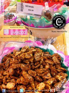"""nuestra """"nuez hermosillo"""" (Nuez Garapiñada con Bacanora por CMS), de venta en el departamento de dulcería en Liverpool Hermosillo!!! buena vibra!!! #chefcms #nuezhermosillo #bacanora #denominacióndeorigen #embajador #liverpool #hermosillo #dulcería"""