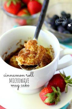 cinnamon roll microwave mug cake made with kodiak pancake mix