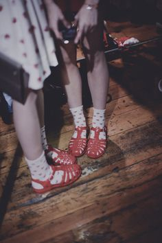 Twenty Seven Names & Juju Jellies <3 we called them fishermens sandals in the uk in the very late 70s...i had silver glitter ones...wore with a retro style black pencil skirt -suit, skinny tie, and spiky hair..how my boyfriend hated them.