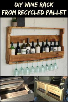 DIY Wine Rack From Recycled Pallet