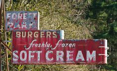 Old burger joint sign.