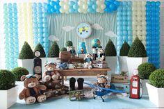 Urso Aviador - Muita Festa Decorações