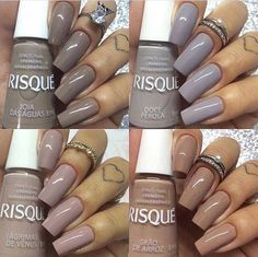 Opting for bright colours or intricate nail art isn't a must anymore. This year, nude nail designs are becoming a trend. Here are some nude nail designs. Heart Nail Designs, Nail Art Designs, Perfect Nails, Gorgeous Nails, Stylish Nails, Trendy Nails, Sns Nails Colors, Thanksgiving Nails, Heart Nails