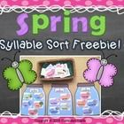 This fun and interactive center allows students the opportunity to practice sorting different spring words by one, two, or three syllables!   A rec...