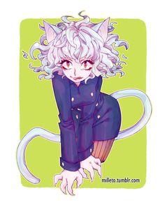 Hunter X Hunter Neferpitou Killua, Hisoka, Thicc Anime, Kawaii Anime, Anime Art, Hunter Anime, Hunter X Hunter, Neko, Oc Base