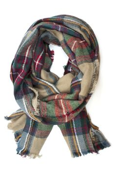 The Miller Plaid Scarf is a must-have for Fall! Love these colors. $28 www.mooreaseal.com