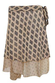 #bohemianskirt #wrapskirt #gypsyMosaic Silk Short Wrap Skirt Two Layer Reversible Floral Silk Sari Skirts Mogul Interior http://www.amazon.com/dp/B01CUATV2K/ref=cm_sw_r_pi_dp_Ob84wb14VDVQ3