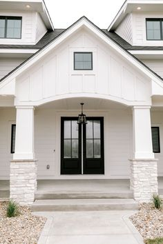 Photos - Black Birch Homes Dream House Exterior, Exterior House Colors, Exterior Design, Exterior Doors, Entry Doors, Dream Home Design, My Dream Home, House Design, Design Homes