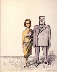 Drawing (1953)from The Discovery of America, Saul Steinberg