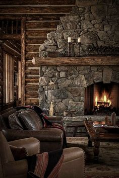 Fireplace focal point