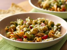 Asiago Cheese-Chick Pea Pasta Salad | Enjoy this cheesy pasta salad made using Suddenly Salad® mix and Progresso® chick peas - a delicious side dish.