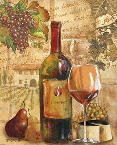 Wine Collage I Art Print