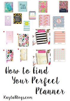 College students: are you looking for some suggestions of cute but functional planners to use this semester? Let me help!