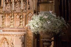 Zita Elze wedding flowers for Olivia and Benedict photo: Lucy Davenport Diy Wedding, Rustic Wedding, Wedding Photos, Wedding Day, Baby's Breath Wedding Flowers, Bridal Flowers, Porch Topiary, Church Flowers, Gypsophila