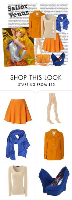 """""""Sailor Venus"""" by inasaur ❤ liked on Polyvore featuring ASOS, Chicwish, DKNY, Vila Milano, Moschino Cheap & Chic, Jane Norman, Madden Girl, Mark + James by Badgley Mischka, sailor moon and shoes"""