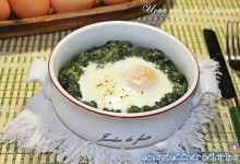 Uova nel nido di spinaci